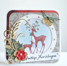 Marianne Design challenge 253 Marianne Design, Diy Cards, Deer, Christmas Cards, Ornament, Challenges, My Favorite Things, Blog, Card Ideas