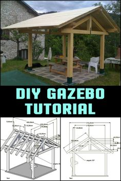 Want a gazebo? Why not learn how to build it yourself? Here's a tutorial you can follow...