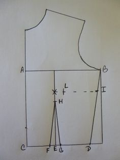 Rhonda's Creative Life: Drafting The Front Fitted Bodice, Adding Darts