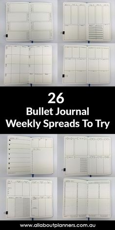 Bullet Journal Ideas: 26 Weekly Spread Layouts to Try - All About Planners - bullet journal weekly spreads inspiration minimalist layout horizontal vertical checklist scheduling - Bullet Journal Inspo, Bullet Journal Spreads, Bullet Journal Monthly Spread, Bullet Journal Project Planning, Bullet Journal Weekly Layout, Bullet Journal School, Bullet Journal Page Order, Bullet Journal Calendar Ideas, Bullet Journal Finance