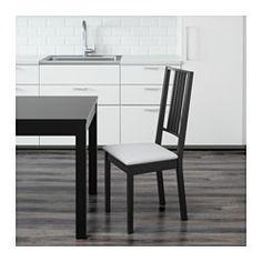 BÖRJE Stuhl, braunschwarz, Gobo weiß - IKEA