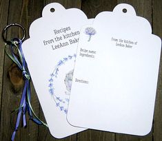 20 Artichoke Jumbo Tag Recipe Cards - Personalized - Printed - Recipe Book - Kitchen Art - Foodie - Bridal Shower - Housewarming Gift