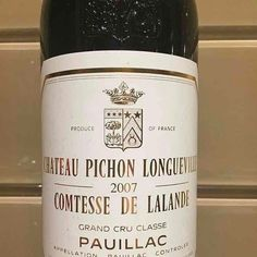 Château Pichon Longueville - France - Pauillac - 2007 #mywinebook #vin #wine #vino - http://appstore.com/mywinebook