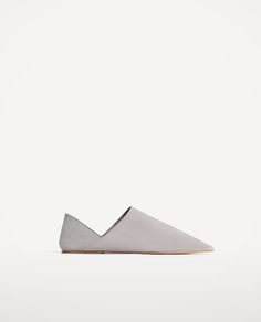 FLAT LEATHER SHOES-NEW IN-WOMAN   ZARA United States