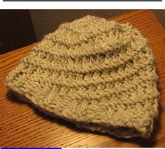 Loom Knit - Knifty Knitter 36 peg loom Spiral-Ribbed Hat Pattern.  Published by Knifty on Scribd.