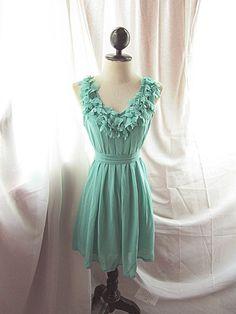 Flirty Chiffon Flowy Dress - but in white/cream/light pink