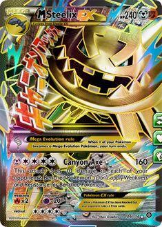 Mega Steelix Mega Evolution Pokemon, Mega Pokemon, Cool Pokemon Cards, Rare Pokemon Cards, Cool Cards, Pokémon Cards, Pokemon Cards Legendary, Strongest Pokemon, Charizard