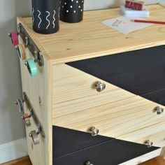 Rolling Craft Cart Ikea Rast Hack by turning a dresser into a traveling craft cart to be used anywhere around the house. Organized and fun!