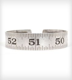 Vintage Craftsman Ruler Bangle <3 would totally wear this if I was a big sewer/ever get to design my own clothes someday