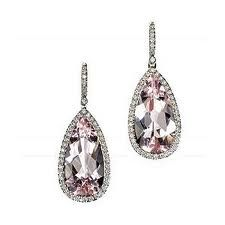 Something......pink  Mark Patterson Morganite and Diamonds Earrings.