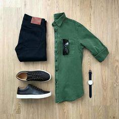 Outfit Ideas For Men: Hot Mens Fashion Style Outfits Ideas to Impress Your Girl Style Outfits, Girl Outfits, Casual Outfits, Fashion Outfits, Men's Fashion, Casual Attire, Lifestyle Fashion, Fashion Shirts, Fashion Moda