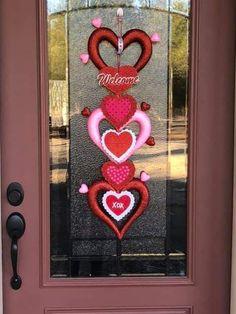 From Dollar tree Diy Valentines Day Wreath, Easy Valentine Crafts, Valentines Day Decorations, Valentine Ideas, Pinterest Valentines, Diy Valentine's Day Decorations, Dollar Store Halloween, Dollar Tree Crafts, Valentine's Day Diy