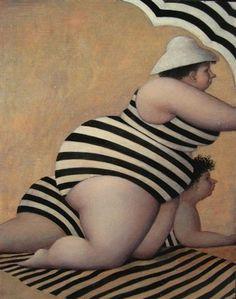 Pinzellades al món: Il·lustracions de Jeanne Lorioz: bellesa femenina amb corbes Illustrations, Illustration Art, Plus Size Art, Fat Art, Tim Walker, Jeanne, Fat Women, Naive Art, Renoir