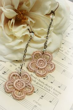lace earrings  tinaevarenee on Etsy