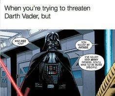 I remember reading this and thinking that whoever wrote this must really be enjoying the irony. #DarthVader