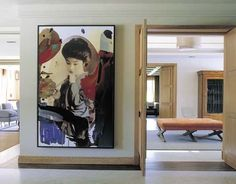 ... Large Artwork, Antique Furniture, Interior Architecture, Interior Decorating, Interior Design, Wall Decor, Mirror, Antiques, Modern
