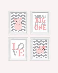 Cat Nursery Art  Baby Girl Nursery Art Kitten by SweetLittleBarn, $49.99