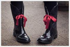 DIY Embellished Rain Boots