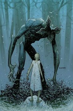 Eleven vs Demogorgon (Stranger Things) by Ryan Ottley Cthulhu, Geeks, Demogorgon Stranger Things, Arte Robot, Graffiti, Animation, Entertainment, Comic Art, Fantasy Art