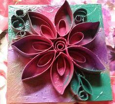 Cardboard roll art flower