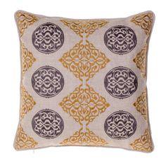 14 Karat Home Inc. Medallion Throw Pillow