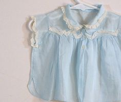 Vintage Baby Clothes, Shirt, Baby Girl Top, Blue Infant Blouse With Lace and Embroidery on Etsy, $18.00 -so cute!!