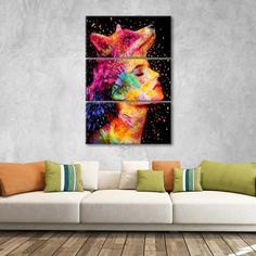 Symbiosis Multi Panel Canvas Wall Art is trendy, unique, and bold. This stunning portrait canvas art is sure to make an interesting statement and undoubtedly be the centerpiece in your space. Artist Wall, Artist Canvas, Artist Painting, Multi Canvas Painting, Canvas Wall Art, Canvas Prints, Friends Illustration, Create Canvas, Indie Art