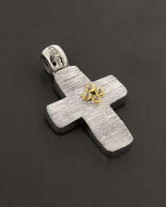 Σταυρός Λευκόχρυσος & Χρυσός K14 με Ζιργκόν | eleftheriouonline.gr