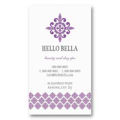 BUSINESS CARD simple modern motif purple #businesscard #businesscardtemplates #modernbusinesscards