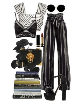 """""""we'll go down this road til it turns from color to black & white"""" by thegivenchree ❤ liked on Polyvore featuring Rock 'N Rose, ace & jig, Paper London, Charlotte Russe, Gucci, Elie Saab, Miu Miu and Prada"""