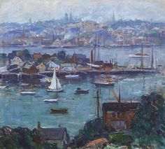 """Emile Grippe """"Gray day Gloucester Mass."""""""