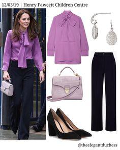 Office Fashion, Work Fashion, Fashion 2020, Daily Fashion, Fashion Ideas, Kate Middleton Outfits, Princess Kate Middleton, Kate Middleton Style, Navy Pants Outfit