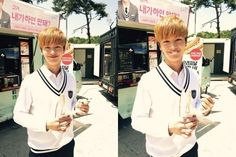 """Yook Sungjae's Fans Send a Churro Food Truck to """"Who Are You"""" Set"""