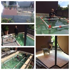 Swimming pool deck with Layher Layher Scaffolding, Swimming Pool Decks, Live Events, Outdoor Decor, Home Decor, Decoration Home, Room Decor, Pool Decks, Interior Decorating