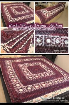 Your place to learn how to Crochet the Basket Weave Granny Afghan for FREE. by Meladora's Creations - Free Crochet Patterns and Video Tutorials