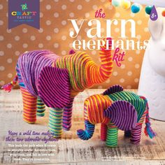 World Market The Yarn Elephants Crafting Kit Crafts For Less, Quick And Easy Crafts, Save On Crafts, Crafts For Kids To Make, Kids Crafts, Beach Crafts, Art Kits For Kids, Art Crafts, Recycled Paper Crafts