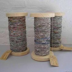 you liked the idea of recycling newspaper into yarn, here's how to spin it yourself.If you liked the idea of recycling newspaper into yarn, here's how to spin it yourself. Recycle Newspaper, Newspaper Crafts, Old Newspaper, Newspaper Flowers, Diy Projects To Try, Craft Projects, Craft Ideas, Craft Tutorials, Yarn Crafts