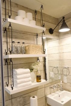 Wine racks aren't just for wine. Add some flair to your bathroom by storing your towels in style.