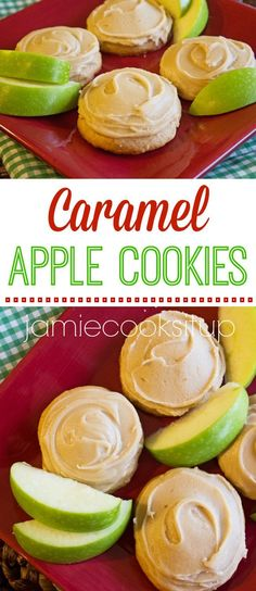 Caramel Apple Cookies from Jamie Cooks It Up! These wonderful cookies have a soft, melt-in-your-mouth texture and are topped with a fabulous caramel icing.