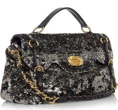 2d4fa5cb4584 Glitter Girl dream bag… (via Miu Miu Large Sequined Leather Tote
