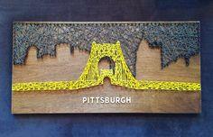 Pittsburgh Skyline String Art  Roberto by CactusCustomDesigns