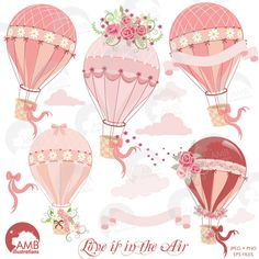Hot Air Balloon Clipart AMB-1231 by AMBillustrations on @creativework247