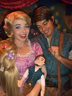Flynn was very proud of the doll. Rapunzel kept holding him like a baby so Flynn proclaimed he was their son and named him Eugene Jr.
