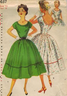 1950s Simplicity 4637 Vintage Sewing Pattern by midvalecottage, $12.00