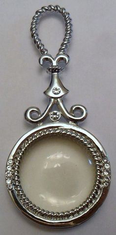 Large Silver Tone Magnifying Glass Pendant by onetime on Etsy, $4.25