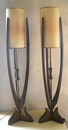 Pair mid century Danish style table lamps on Etsy, $180.00