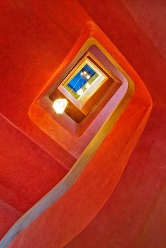 Staircase at Goetheanum #GISSLER #interiordesign