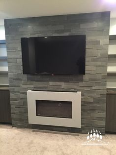 ErthCOVERINGS Strips Series Lavastone #fireplace | www.KodiakMountain.com