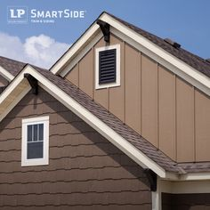 Green roof paint combo sorta of mimics the color of a for Lp smartside lap siding sizes