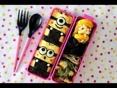 Minion Lunch Box, Bento Box Lunch, Lunch Snacks, Bento Recipes, Sweets Recipes, Bento Tutorial, Bento Kids, Happy Foods, Cute Food